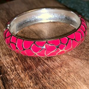 Silver and Pink Bracelet